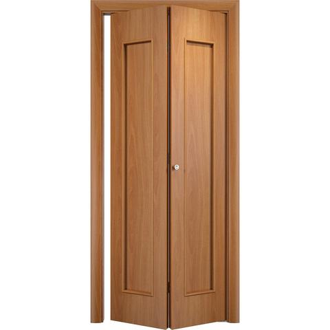 Складная дверь Тиффани миланский орех без стекла