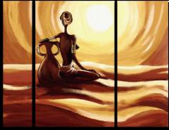 """Модульная картина """"Женщина с кувшином"""""""