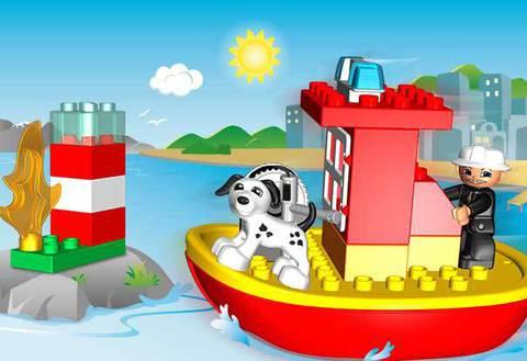 LEGO Duplo: Пожарный катер 10591