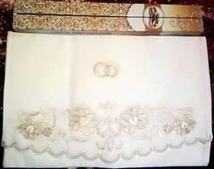 Рушник венчальный + 2 прихватки с вышивкой золотом (фас)
