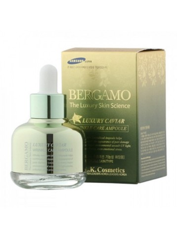 Bergamo The Luxury Skin Science Luxury Caviar Wrinkle Care Ampoule/ Сыворотка с экстрактом икры 30мл