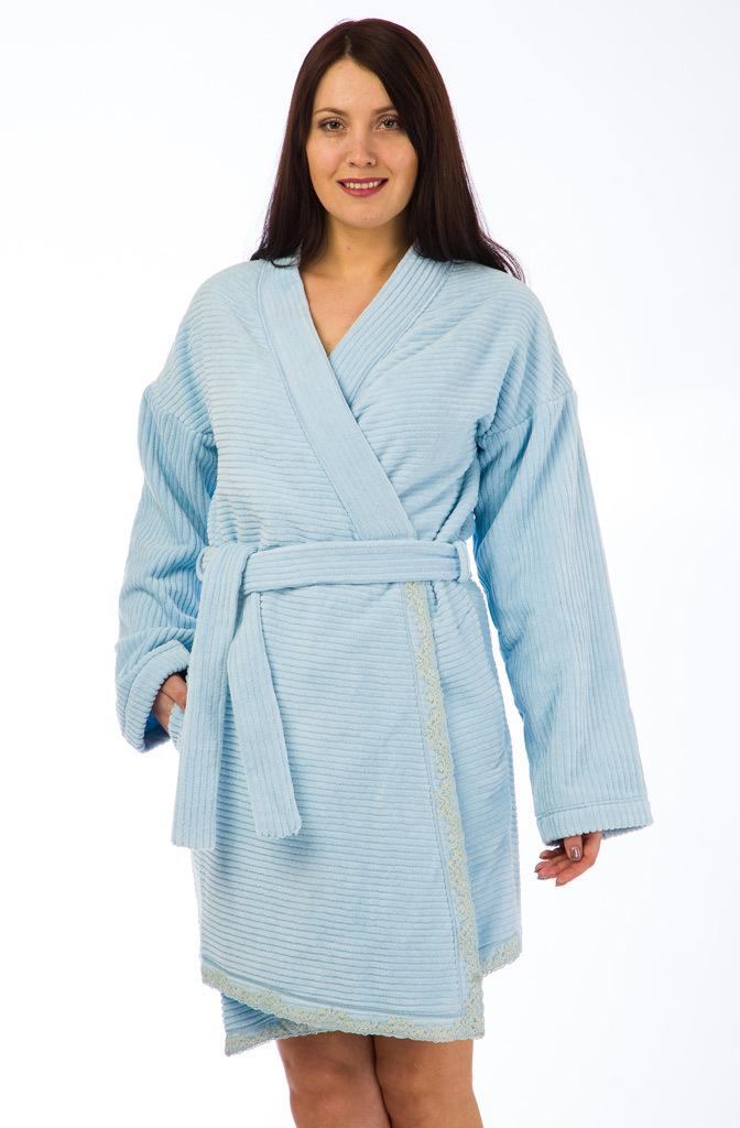 Короткий махровый халат Joelle