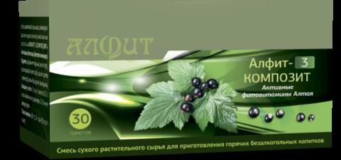 Фитосбор АЛФИТ-3 КОМПОЗИТ Активные фитовитамины Алтая, 30ф/п*2г