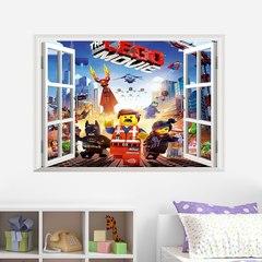 Лего Фильм Бэтмен 3D наклейка