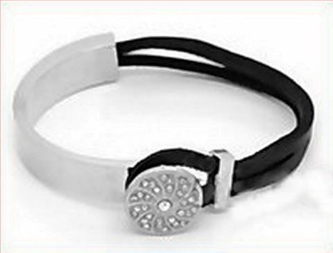 Основа для браслета из двух частей, для шнура 8х4 мм, 8 см (цвет - платина) (B30889A_500_500)