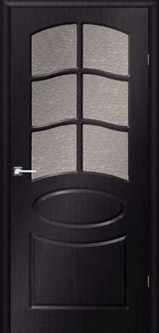 Дверь Сибирь Профиль Неаполь, цвет венге, остекленная