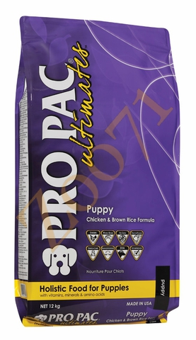ПРО ПАК Алтимэйт Корм для щенков (паппи чикен/браун рис) 12 кг.