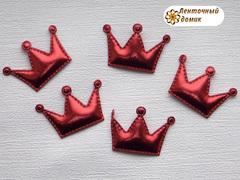 Мягкие короны средние красные