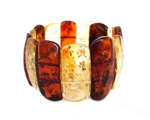 крупный янтарный браслет