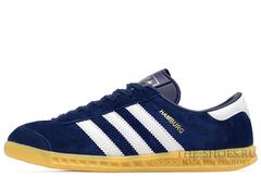 Кроссовки Мужские Adidas Hamburg Suede Navy White Beige