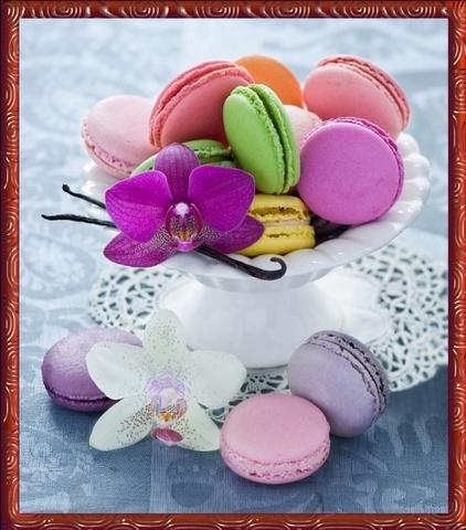 Печенье к чаю - мозаичная картина, 10001