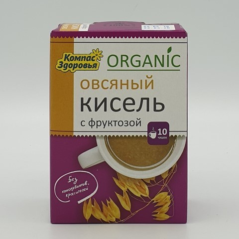 Кисель овсяный с фруктозой КОМПАС ЗДОРОВЬЯ, 150 гр