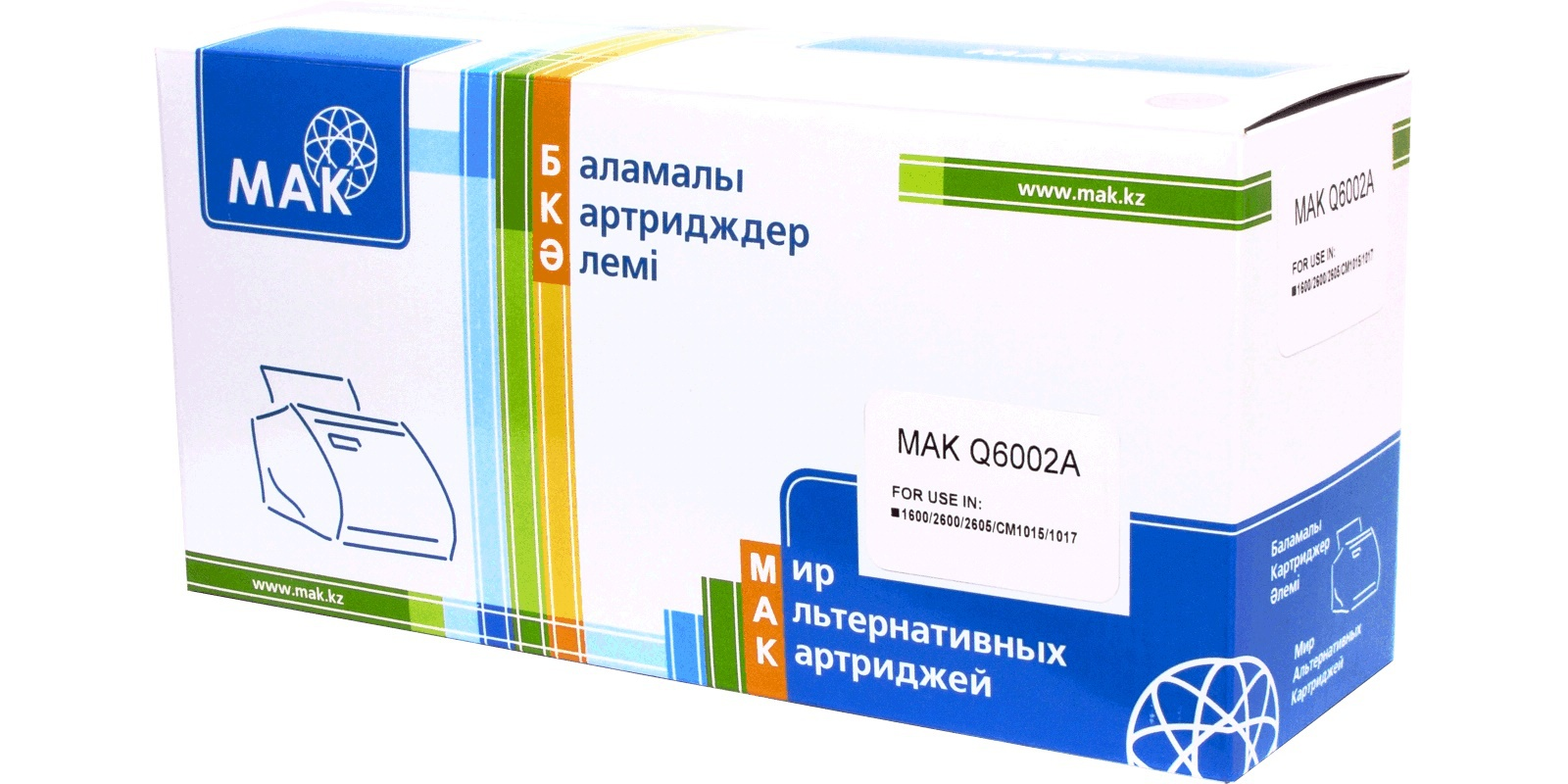 MAK №124A Q6002A CARTRIDGE-307/707/107, желтый (yellow), для HP