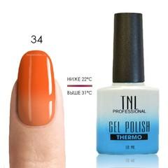 Термо гель-лак TNL 34 - неоново-оранжевый/светло-оранжевый, 10 мл
