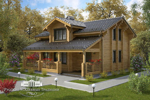 """Проект двухэтажного дома """"Морелли"""" 225 кв.м."""