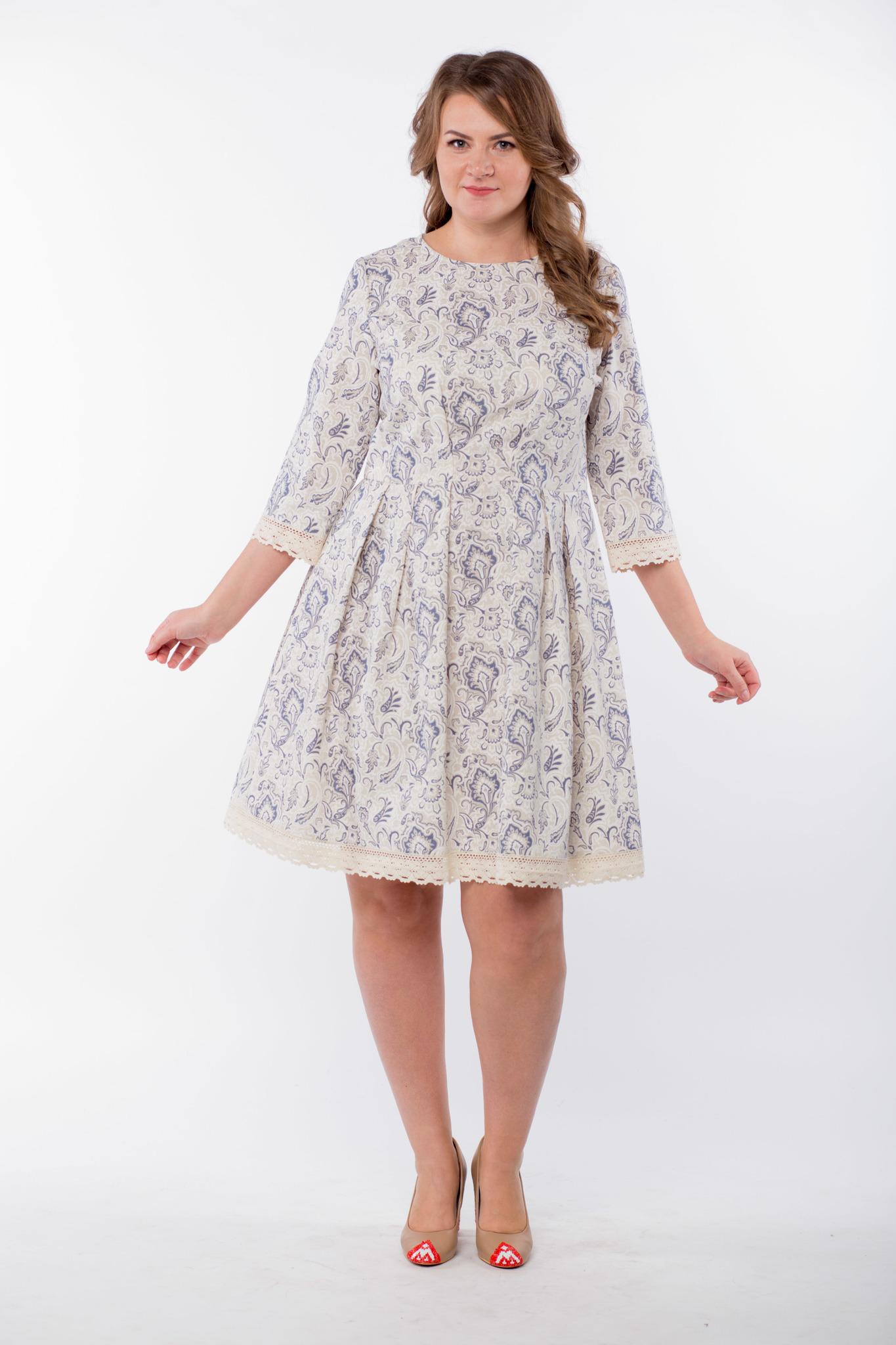Платье льняное Первоцвет 50 размер