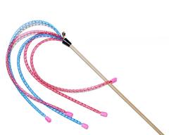 N1 Дразнилка для кошек Пальма длинные нити с колокольчиками 50см123