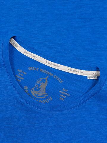 Мужская футболка «Великоросс» синего цвета