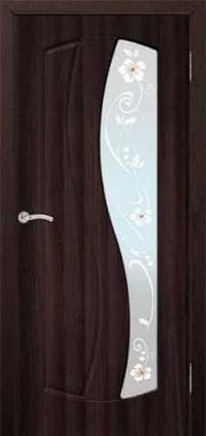 Дверь Сибирь Профиль Аврора, цвет венге, остекленная