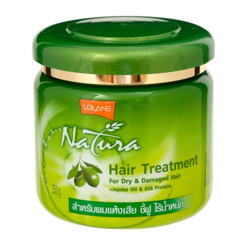 Маска для сухих и поврежденных волос с маслом жожоба и протеинами шелка Lolane Natura Treatment for Dry & Damaged Hair + Jojoba Oil & Silk Protein, 250 мл