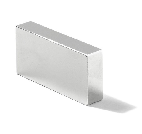Магнит 40х30х10 мм, N38, никель, неодимовый блок