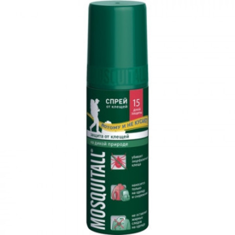 Средства от насекомых Mosquitall Защита от клещей спрей 100мл
