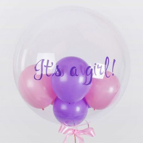 Шар с шариками для девочки