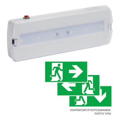 Световые настенные указатели PL EML 1.0 поставляются с любым типом пиктограмм