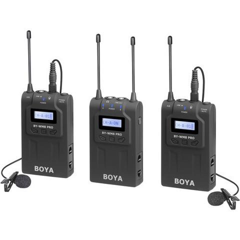 Двухканальная беспроводная микрофонная система Boya BY-WM8 PRO-K2