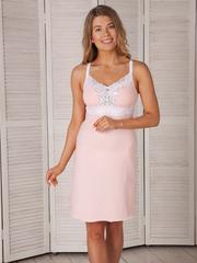 Vivamama. Сорочка для беременных и кормящих Melissa персиковый