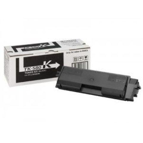 Kyocera TK-580K - черный тонер-картридж для принтеров Kyocera FS-C5150DN. Ресурс 3500 страниц.