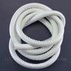 Шнур кожаный, 6 мм, цвет - белый, примерно 1 м