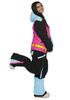 COOL ZONE MIX женский комбинезон для сноуборда голубой-цикламен-черный фото