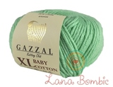 Пряжа Gazzal Baby Cotton XL мята 3425
