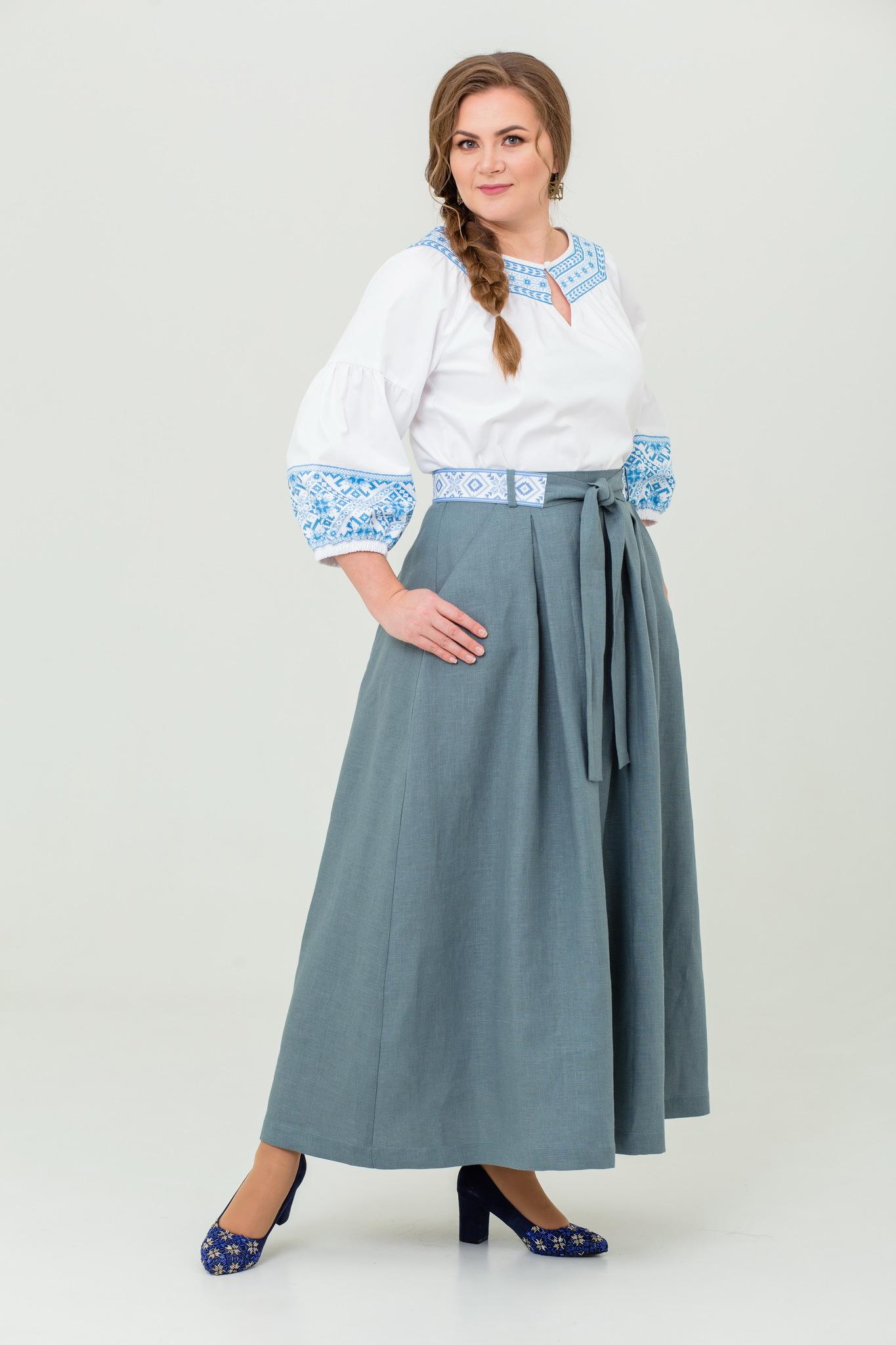 Блуза хлопковая Василиса славянская