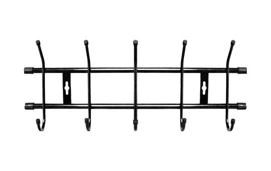 Вешалка настенная на  5 крючков ВН5 (цвет черный), Ника г. Ижевск