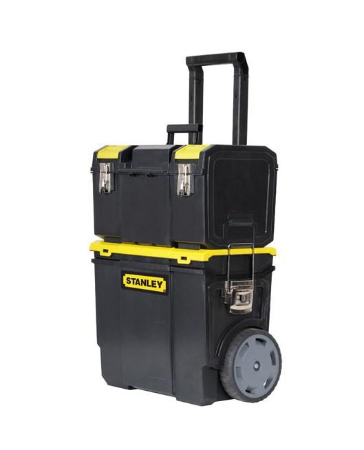 Ящик для инструментов с колесами трёхсекционный Mobile WorkCenter 3 в 1 Stanley 1-70-326