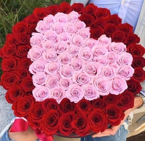 101 роза в форме сердца #1994
