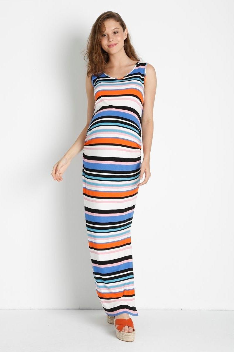 Платье для беременных 08424 серый