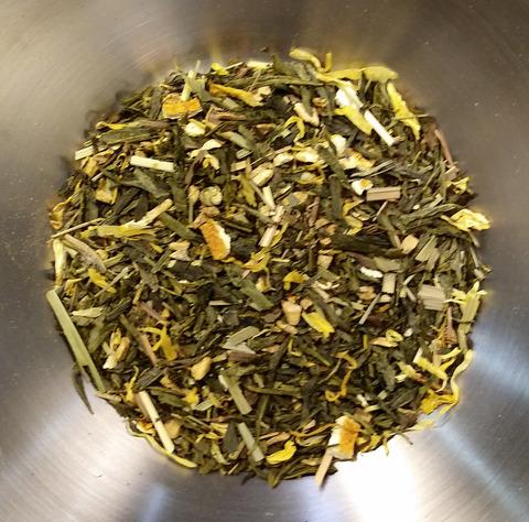 Чай зеленый с имбирем и лимоном ароматизированный