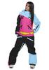 COOL ZONE MIX женский комбинезон для сноуборда голубой-цикламен-черный