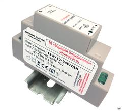 Импульсный блок питания для GSM термостатов и сигнализаций ZONT 12W/12-24V/DIN
