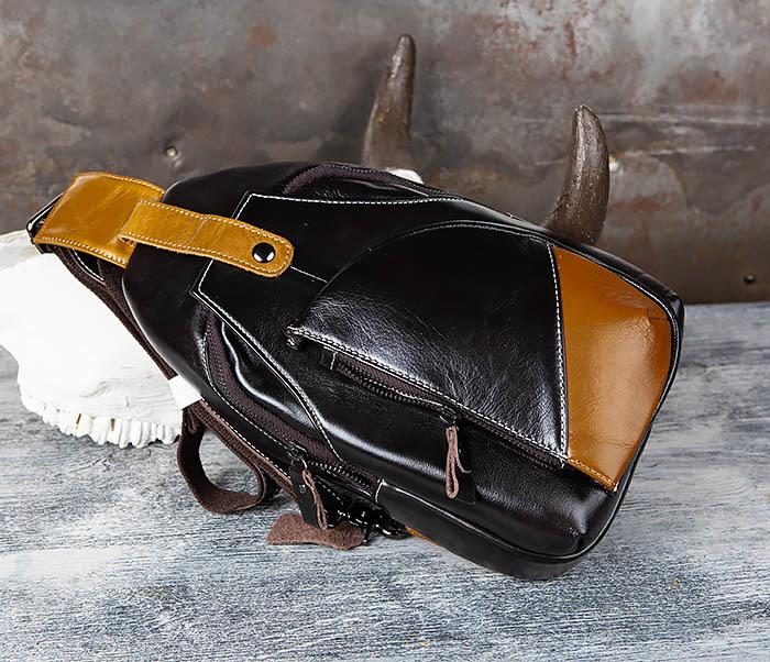 BAG448-1 Небольшой кожаный рюкзак с одной лямкой фото 03