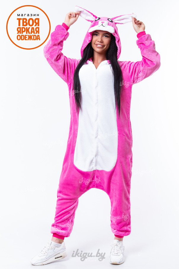 Пижамы кигуруми Заяц розовый заяц-роз1.jpg 1e843c1409537