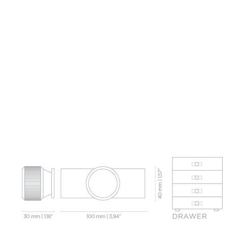 Мебельная ручка PullCast MONOCLES TW5007