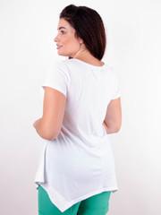 Арнея. Нарядная футболка больших размеров. Белый.