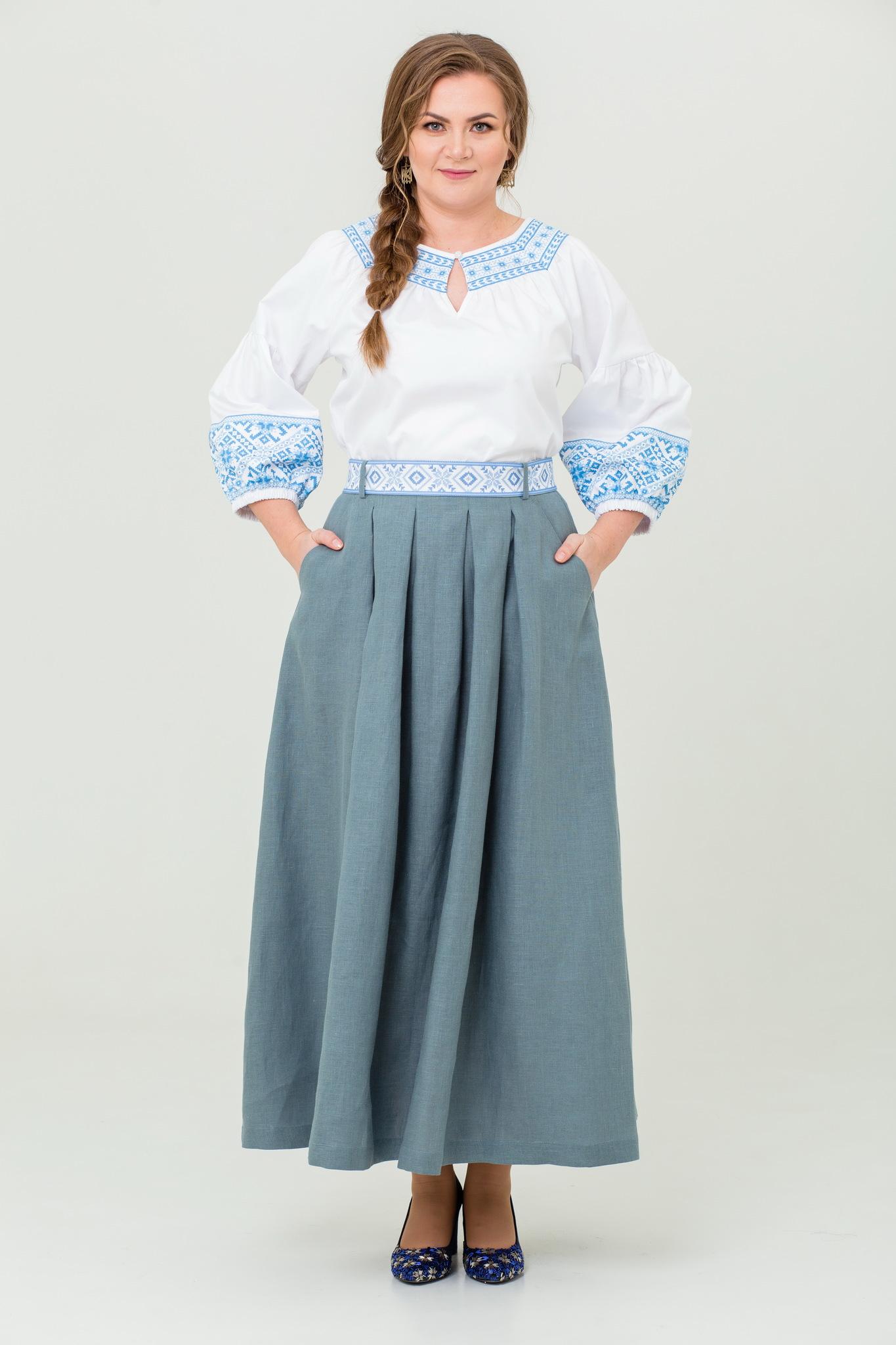 Блуза хлопковая Василиса сапожковый крой