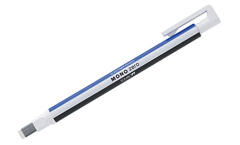 Ластик-ручка Tombow MONO Zero Eraser, прямоугольный наконечник, бело-сине-черный, 2,5 х 5 мм
