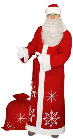 Костюм Деда Мороза Белые снежинки