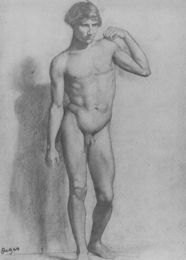 Эдгар Дега. Натурщик с согнутой рукой.